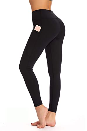 298b659527b6c YOHOYOHA Plus Size Leggings High Waist Athletic Workout Yoga Pants Pockets  Women's Tummy Control Best Thick