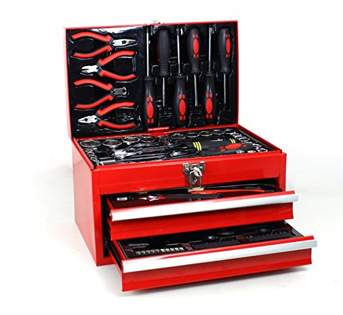 American Builder 3 Tier Metal Chest Tool Set (155 Piece)