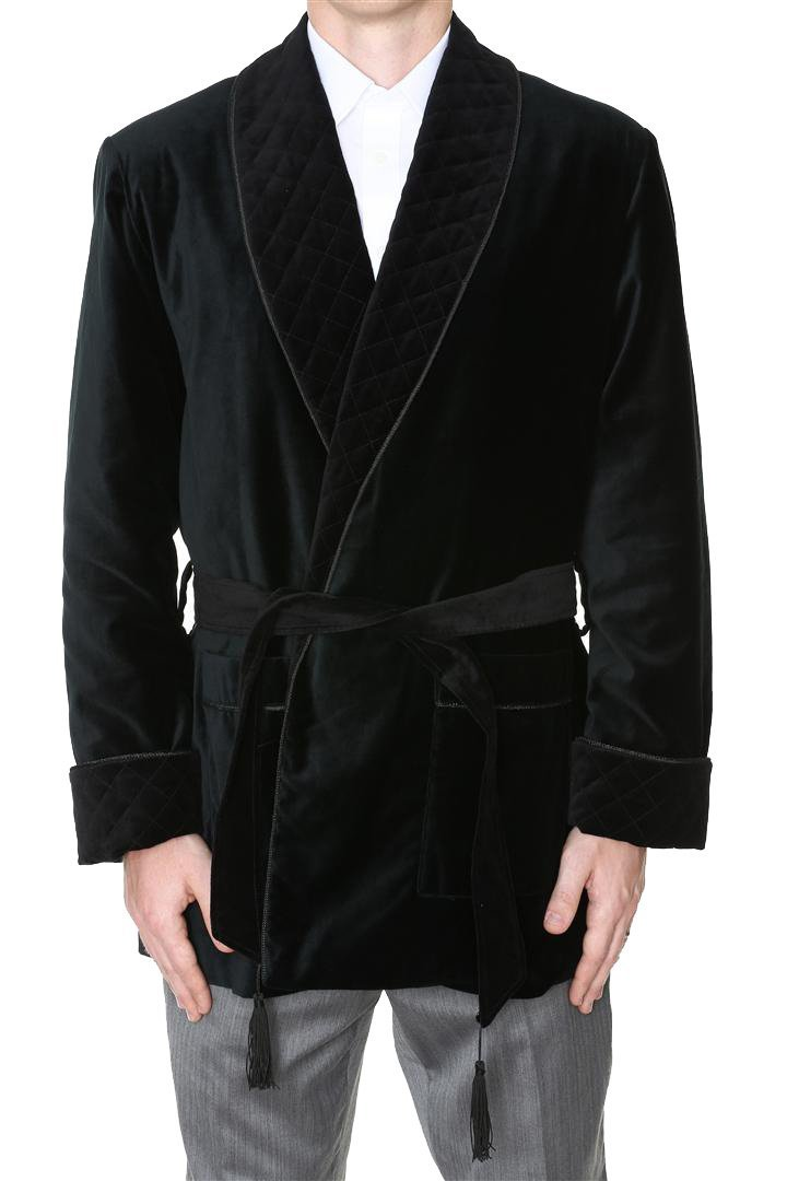 Men's Smoking Jacket Maxwell Black Medium by Duke & Digham