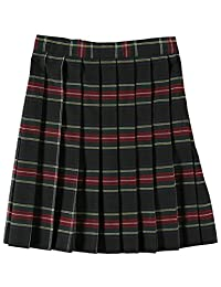 Cookie's Brand Big Girls' Pleated Skirt - Black/red/White/Gold *Plaid #63*, 20