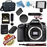 Canon EOS 80D DSLR Camera (Body Only) USA Model with Warranty Video Bundle