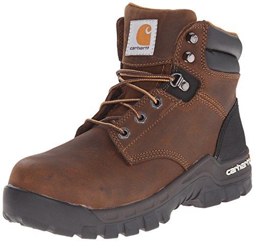 Carhartt Women's Rugged Flex 6 inch Comp Toe CWF5355 Work Boot, Brown, 8 M US