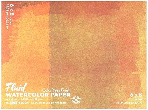 fluid GAP880068 Watercolor Block 6 X 8 [並行輸入品] B07TCTY873