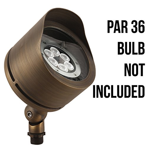 LFU Brass Constructed Flood Light. Antique Bronze Finished. (Low Voltage, Marshall)