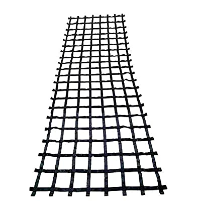 FONG 17 ft X 6 ft Climbing Cargo Net Black - Outdoor Cargo Webbing Net - Military Climbing Cargo Net (17): Toys & Games