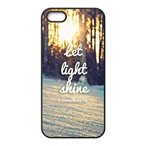 Bible Verse Inspirational Quote Protective PC Cell Phone Cover Case for iPhone 5,5S Cases