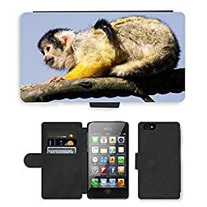 hello-mobile PU LEATHER case coque housse smartphone Flip bag Cover protection // M00136423 Mono capuchino Animal lindo // Apple iPhone 4 4S 4G