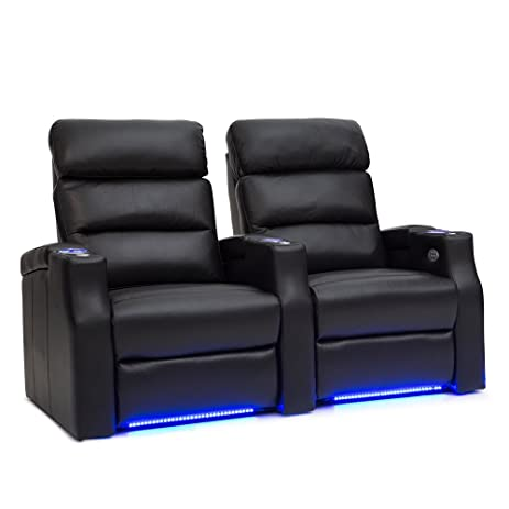 Barcalounger Matrix Leather Home Theater Seating Chairs Power Recline - (Row of 2 Black  sc 1 st  Amazon.com & Amazon.com: Barcalounger Matrix Leather Home Theater Seating ... islam-shia.org