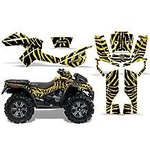 CreatorX Can-Am Outlander 800 Xmr Graphics Kit Decals Stickers Zebra Camo Yellow