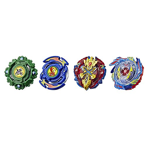 Beyblade Burst Evolution Elite Warrior 4-Pack - 4 Iconic Right-Spin Battling Tops, Age 8+ Toy E2458AC1 (Amazon Exclusive) (Beyblade Dark Cancer)