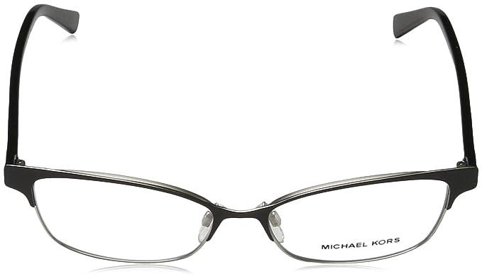 e4e2f04031 Michael Kors Eyeglasses Palos Verdes MK7004 1031 Black Silver Optical Frame  53mm at Amazon Women s Clothing store