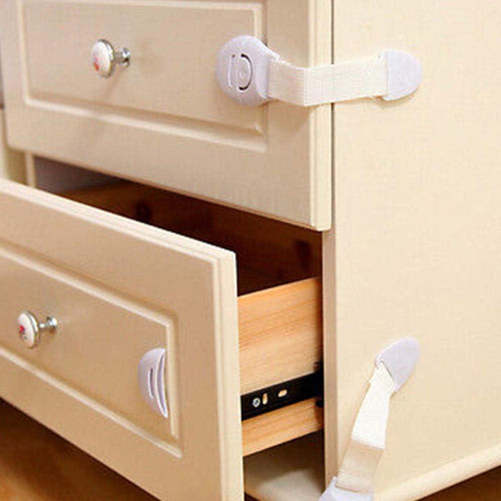 10Pcs Child Infant Baby Kids Drawer Door Cabinet Cupboard Toddler Safety Lock Tr|Cabinet Locks & Straps