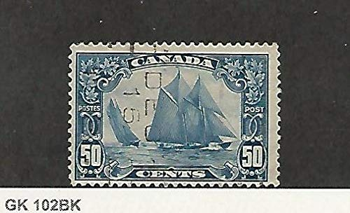 Canada, Postage Stamp, 158 Used Bluenose Ship, 1929, JFZ