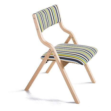 Amazon.com: Sillas plegables sencillas y modernas, sillas ...
