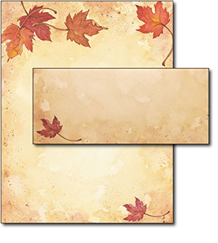 Fall Leaves Stationery & Envelopes - 40 Sets -
