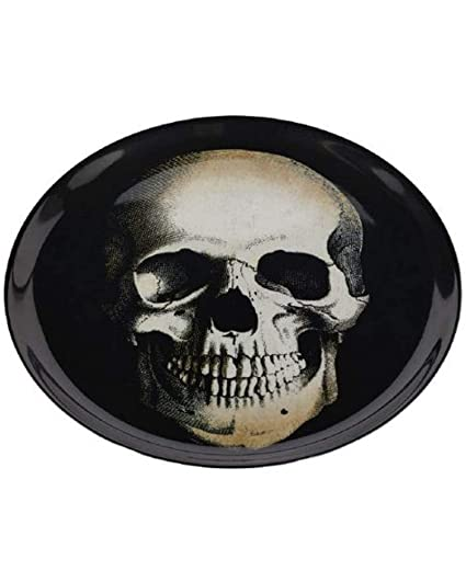 Cathys Concepts Hw 2185sk St Creep It Real Skull Slate Serving Tray Tabletts Black Serviergeschirr Ncci1914 Com