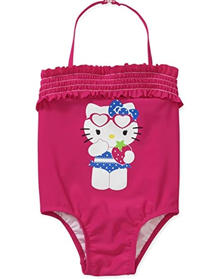 9f397f0f8d Hello Kitty Little-girls Toddler One Piece Ruffled Bathing Suit (4T)