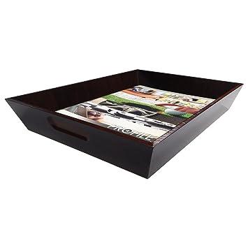 Stockton madera carta Tamaño Bandeja de papel organizador para oficina escritorio