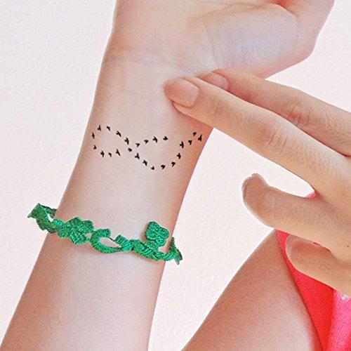Infinity Birds - Tatuaje temporal (conjunto de 2): Amazon.es: Handmade
