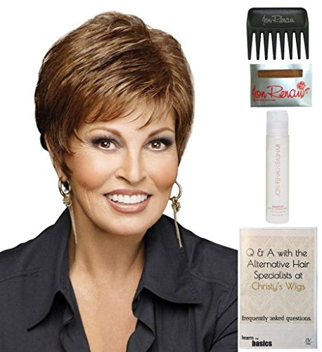 Whisper Wig by Raquel Welch, 15 Page Christy's Wigs Q & A Booklet, 2oz Travel Size Wig Shampoo, Wig Cap & Wide Tooth Comb COLOR SELECTED: R13F25 by Raquel Welch & Christy's Wigs