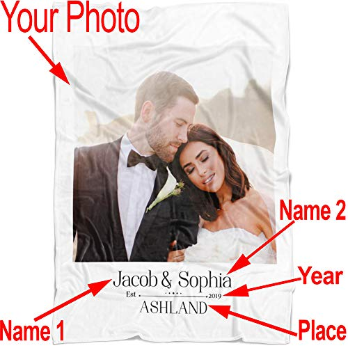 (Personalized Throw Blanket Full Color. Custom from Your Photo. Fleece Blanket Super Soft for Baby & Adult. Great Wedding Gifts (Fleece Tall 50