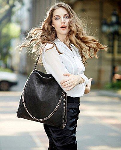 Chaîne Format A4 Daim Main Femmes Paillette Porté Shopper Epaule Effet tout A Sac Cabas Fourre Dame En Femme 8SInwqp