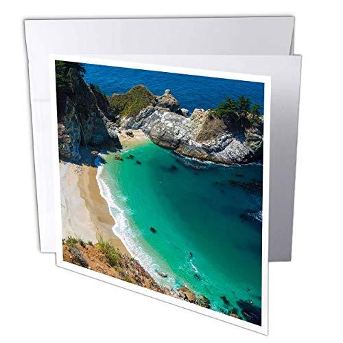 3dRose Danita Delimont - California - McWay Cove, Julia Pfeiffer Burns State Park, Big Sur, California, USA - 6 Greeting Cards with envelopes (gc_314702_1) (Julia Pfeiffer Burns State Park Big Sur)