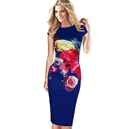 2068635c127 Image Unavailable. Image not available for. Color  Women Dress Daoroka  Ladies Sexy Backless Bodycon Casual Work ...