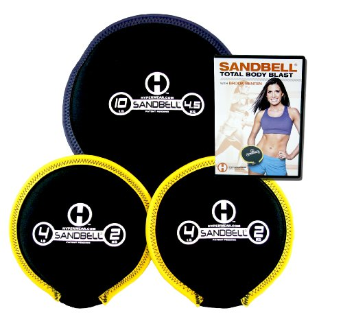 Hyperwear SandBell Total Body Blast Bundle with 3 Filled SandBells and Total Body Blast Workout DVD