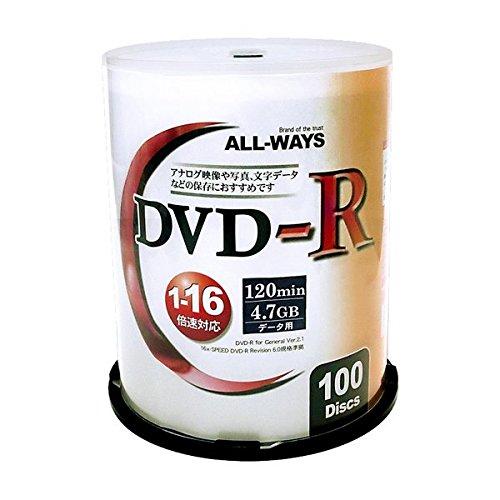 ALL-WAY DVD-R16倍速100枚スピンドル ALDR47-16X100PWX5P 〔5個セット〕 B01IKJA9BM