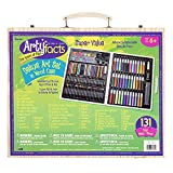 Darice (1103-10) 131-Piece Premium Art Set - Art Supplies for Drawing, Painting and More in a Wood...