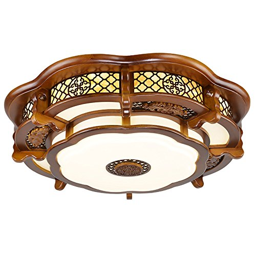 Leihongthebox Ceiling Lights lamp Chinese ceiling light round high wooden ceiling lamp lights arts emulation villa engineering Ceiling lamp for Hall, Study Room, Office, Bedroom, Living Room,600mm by Leihongthebox (Image #5)