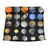 Solar System Velvet Drawstring Gift Bag Wrap Present Pouches Favor for Jewelry, Coin, Holiday, Birthday, Party, 12X14 Inches