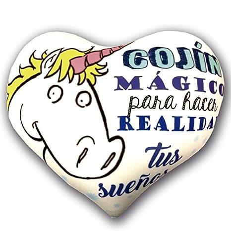 Cojín corazón mágico