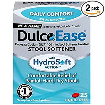 - DulcoEase Stool Softener Liquid Gels, 25 Count
