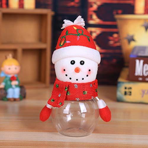 Hot Sale!DEESEE(TM)Child Kids Christmas Candy Jar Storage Bottle Santa Bag Sweet Christmas Box Gift (B) ()