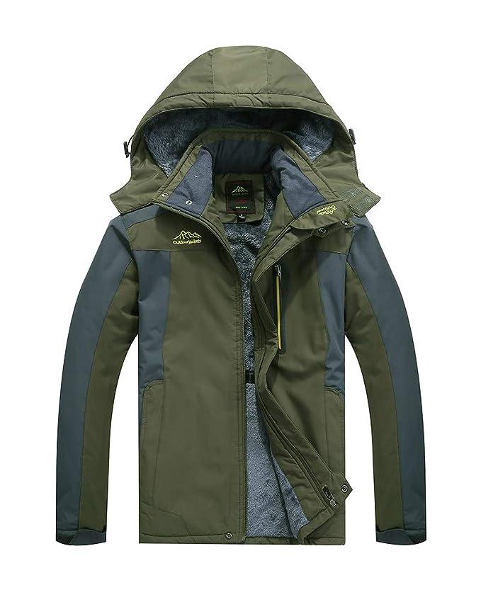 Suncaya Herren Damen 3 in 1 Softshelljacke Warme Gef/üttert Funktionsjacke Wasserdicht Atmungsaktiv Wandern Outdoor Jacke
