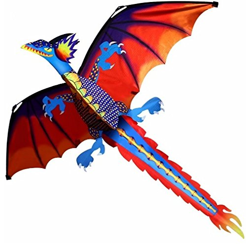 Jetkyshop New Classical Dragon Kite 140Cm X 120Cm Single Line With Tail With Handle And Line Good Flying Kites