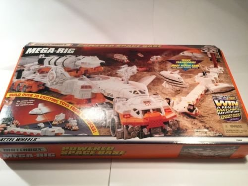 Matchbox Mega Rig Powered Space Base Station Truck Moon Base Mattel Wheels from Unbranded