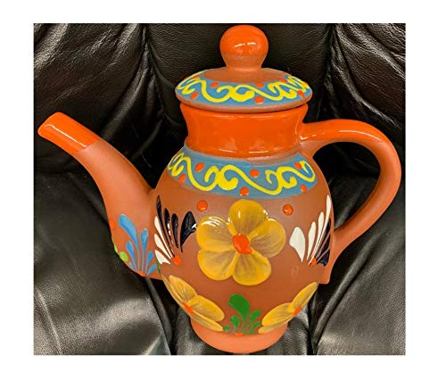 Amazon.com | Made in Mexico Tetera De Barro Clay Mexican ...