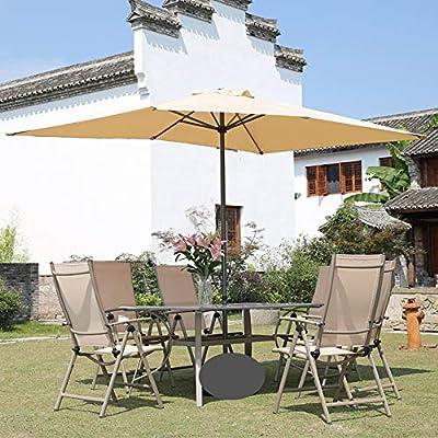 Parasol Sombrilla Rectangular 200 x 300 cm | Sombrilla de jardín Exterior | Varilla de Poste Ø 38 mm | Sistema de manivela CMXZ: Amazon.es: Jardín