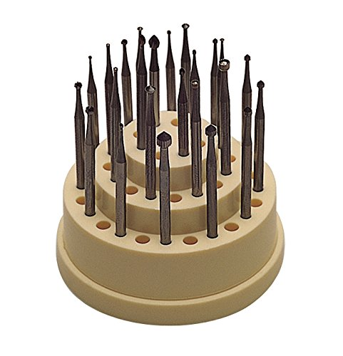 24 Piece Master Swiss Round Cup Hart Setting Bur Set Jewelry Making Rotary Tools