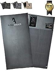 Alphachoice Fitness Handtuch fürs Fitnessstudio mit Reißverschluss-Taschen/Gym Handtuch/Fitness Sporthandtuch Damen & Herren 100cm x 50cm groß XXL
