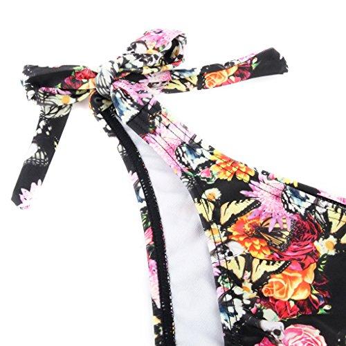 RELLECIGA bañador bandeau de dos piezas diseño digital Mariposas