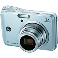 GE A1050-SL 10MP Digital Camera with 5X Optical Zoom and 2.5 Inch LCD with Auto Brightness - Silver Overview Review Image