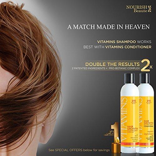 Nourish Beaute Vitamins Hair Loss Shampoo And Conditioner W Natural Growth Factors Argan Oil Biotin