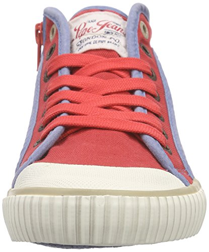 Pepe Jeans London Damen Industry Basic16 High-Top Rot (258RED HOT)