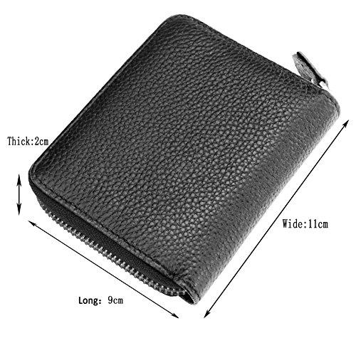 Admetus Mens Genuine Leather Bi-Fold Wallet