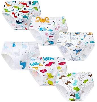 Growth Pal Little Boys' Underwear Briefs Soft 100% Cotton 6 Pack Kids Underwear Toddler Briefs - - 2-3 Years