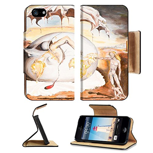 MSD Premium Apple iPhone 5 iphone 5S Flip Pu Leather Wallet Case oil painting illustrationg a replica of a famous painting made by Salvador Dali iPhone5 IMAGE 22878559 (Emerging Elephant)